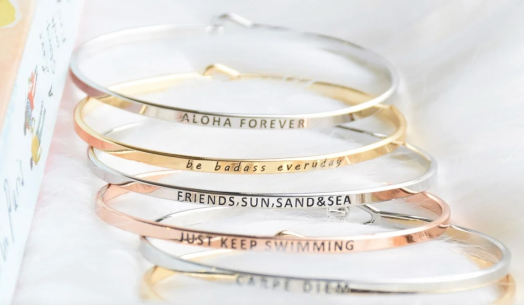 many jane stacking bracelets