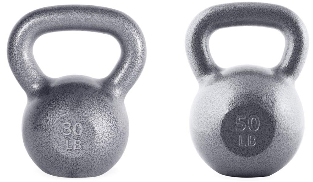 30lb and 50lb kettlebell