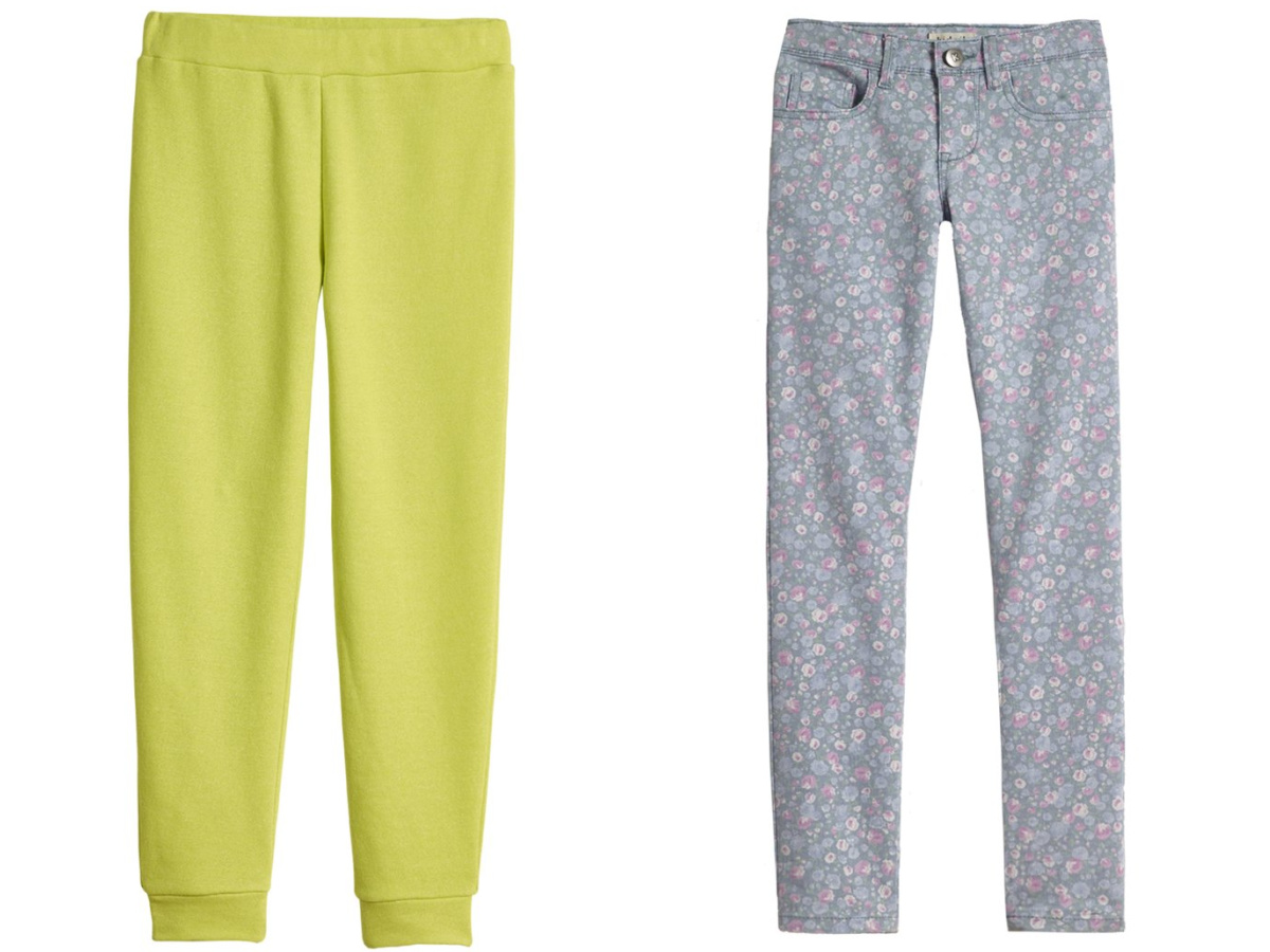 lime green and flower pants