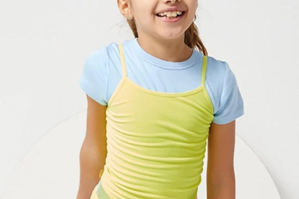lime green kidpik girls tops
