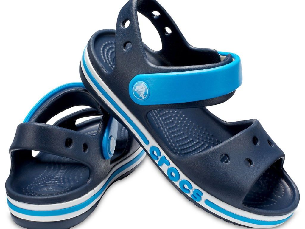 blue pair of sandals for a kid