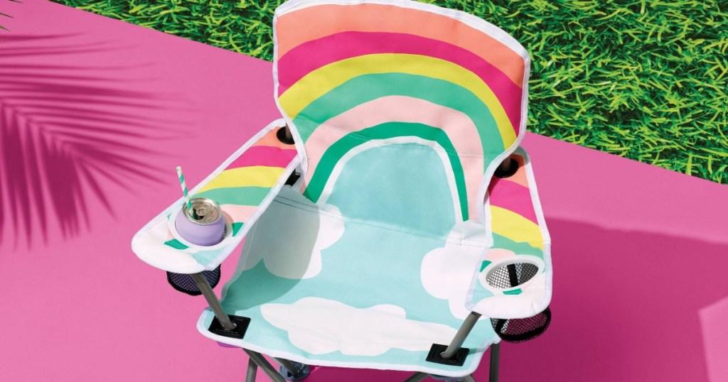kids rainbow chair