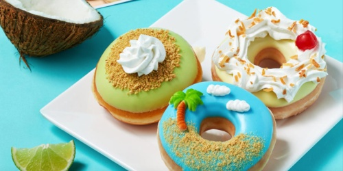 New Krispy Kreme Island Time Doughnuts | FREE Glazed Doughnut & Coffee (No Purchase Required)