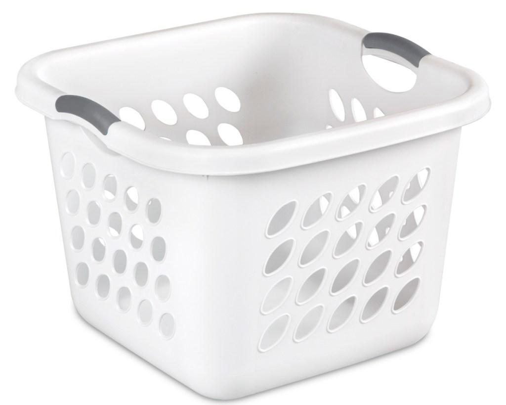 laundry square basket white