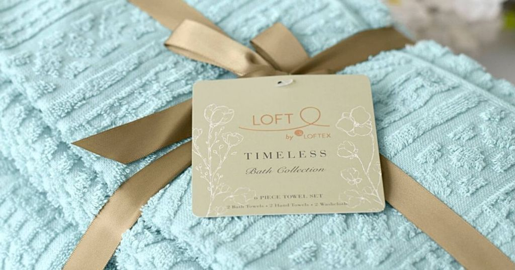 turquoise Loft Timeless towels