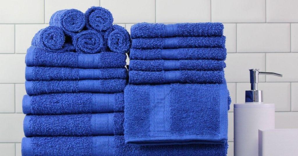 royal blue towels