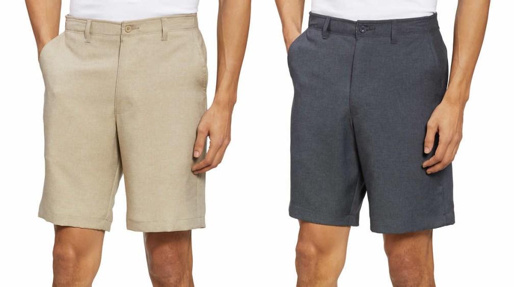 tamn and gray mens shorts