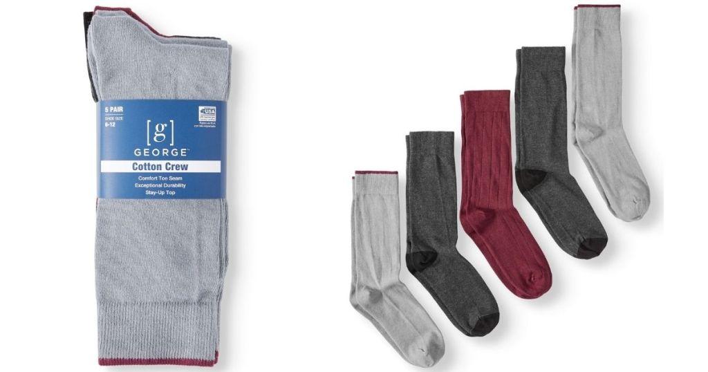 George cotton crew socks