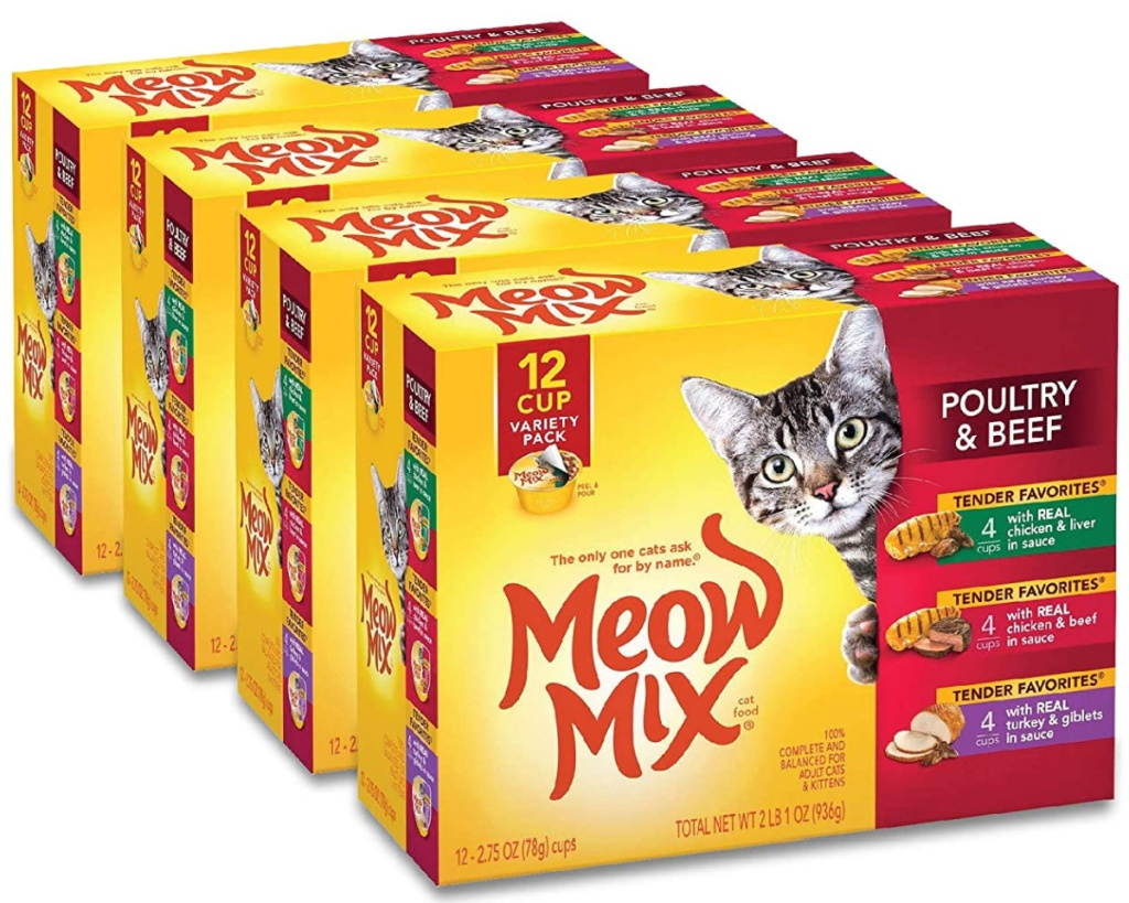 meow mix cat food boxes