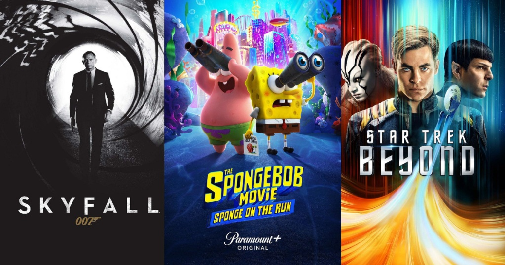 three movies displayed
