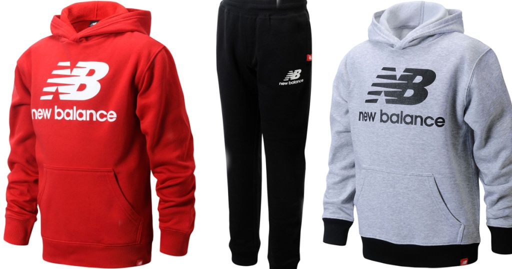 three stock images of hoodies and joggers