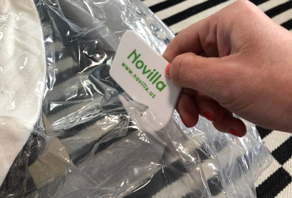 using novilla mattress cutter on plastic