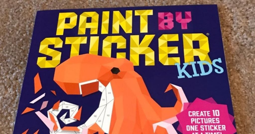 Paint by stickers book