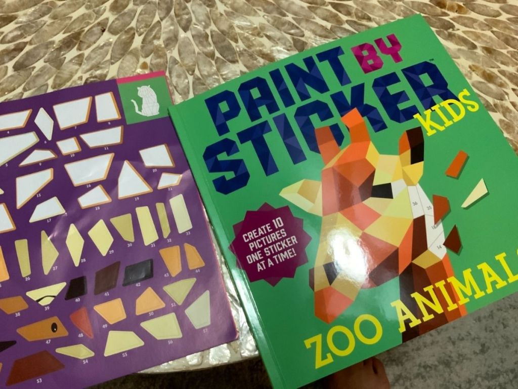 painty by sticker zoo animal book