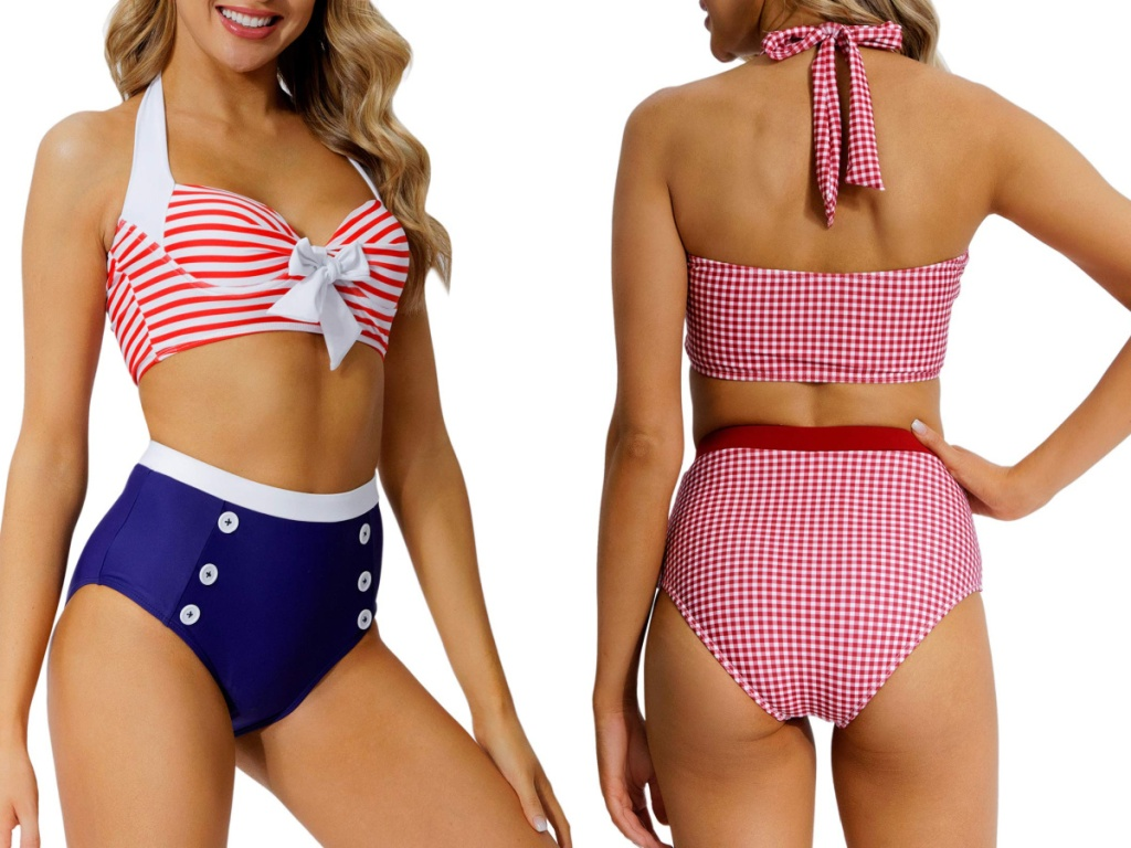 peddney retro swimsuit front and back