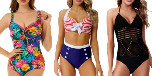 Women's Swimsuits from $8.40 on Amazon | Choose from a Variety of Styles