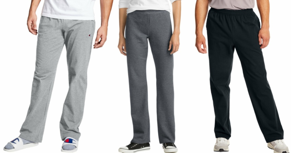 people wearing sweatpants from hanes and champion