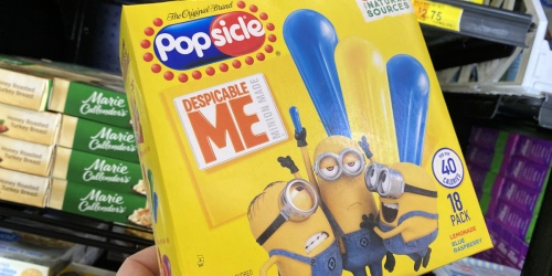 $6 Worth of Popsicle Printable Coupons = Minions Pops Possibly Only $1.25 at Walmart