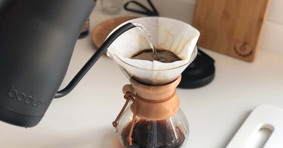 chemex and kettle on counter