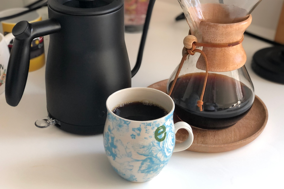 coffee set on counter