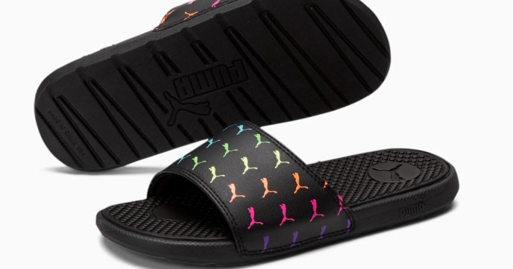 pair of puma cool slides