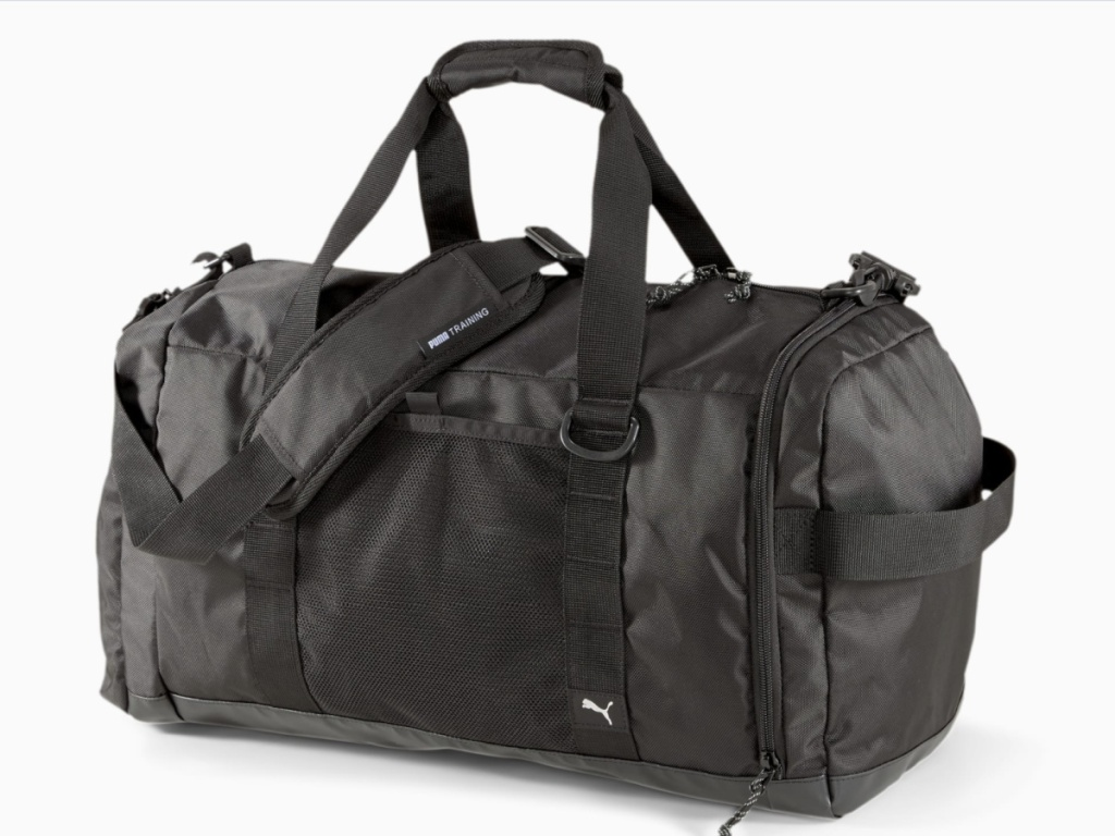 black puma duffel bag