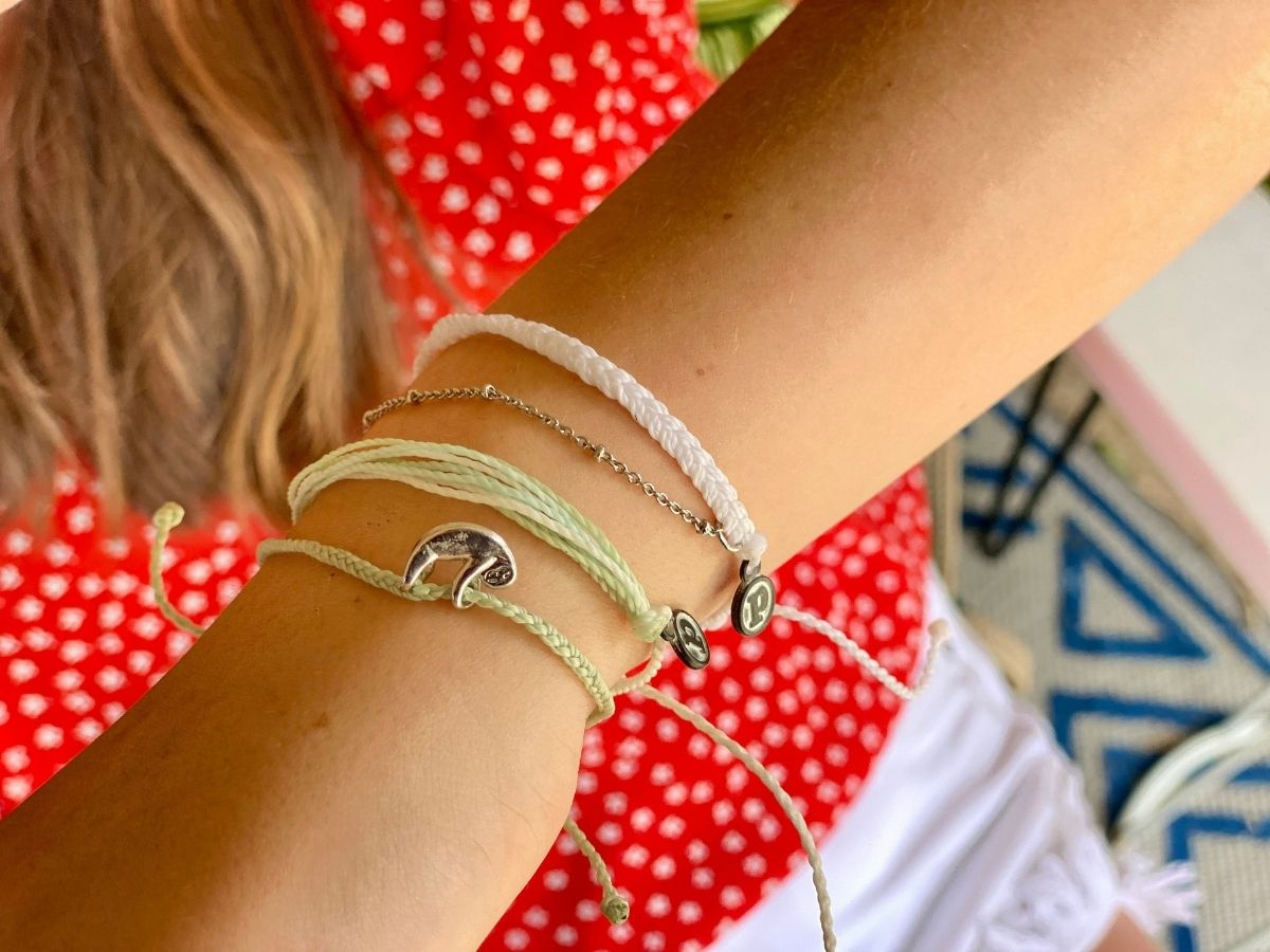 sloth bracelet on arm