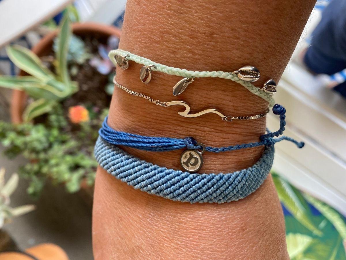 bracelets on arms