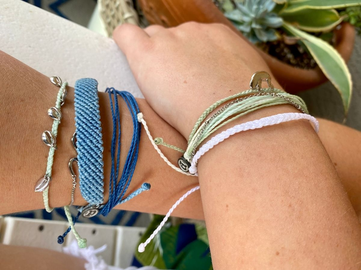 arms with multiple bracelets