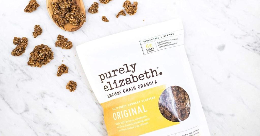 purely elizabeth granola in bag