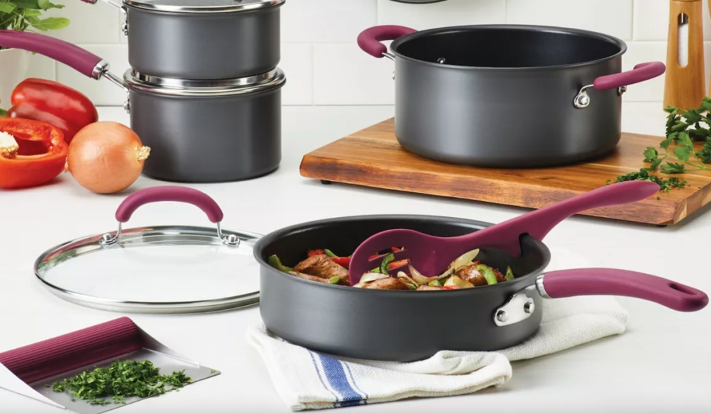 11-piece rachael ray hard anodized cookware
