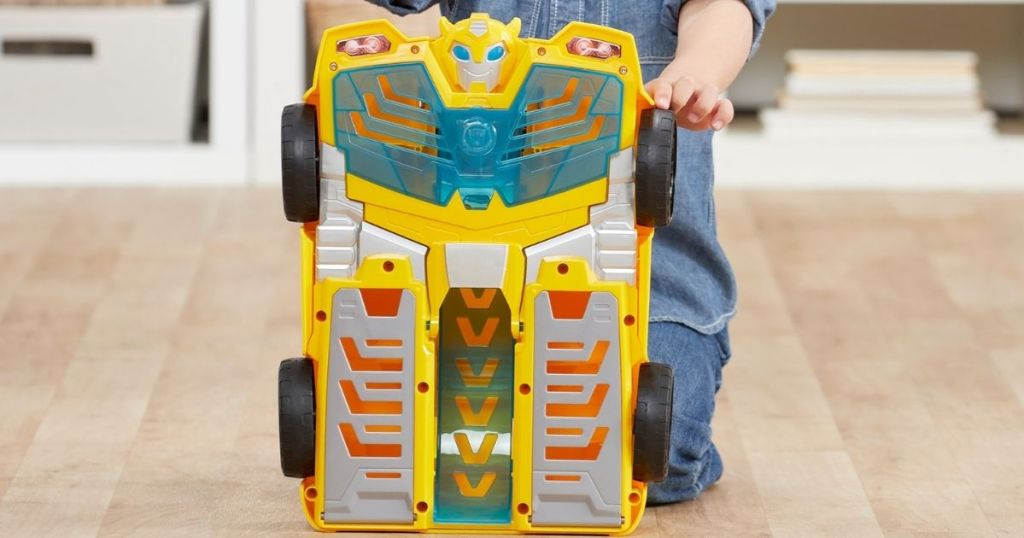 ransformers Playskool Heroes Rescue Bots Academy Bumblebee Track Tower 14 Playset, 2-in-1 Converting Robot