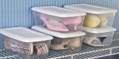 Sterilite 6-Quart Storage Box + Lid Just $1 w/ Free Walmart Pickup