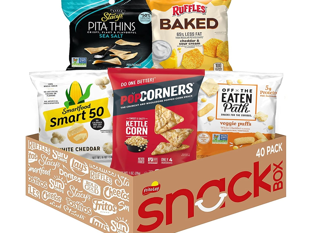 Healthy Frito Lay snack bags in a snack box
