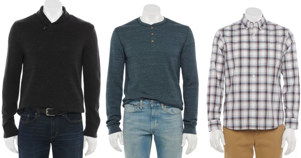 3 male mannequins with nice shirts on