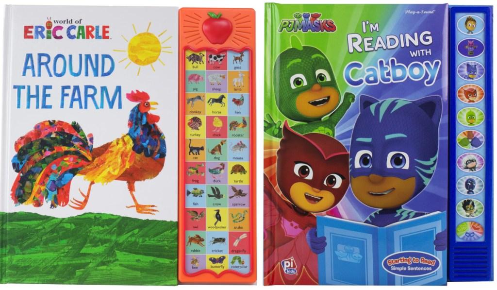 eric carle & PJ masks sound books