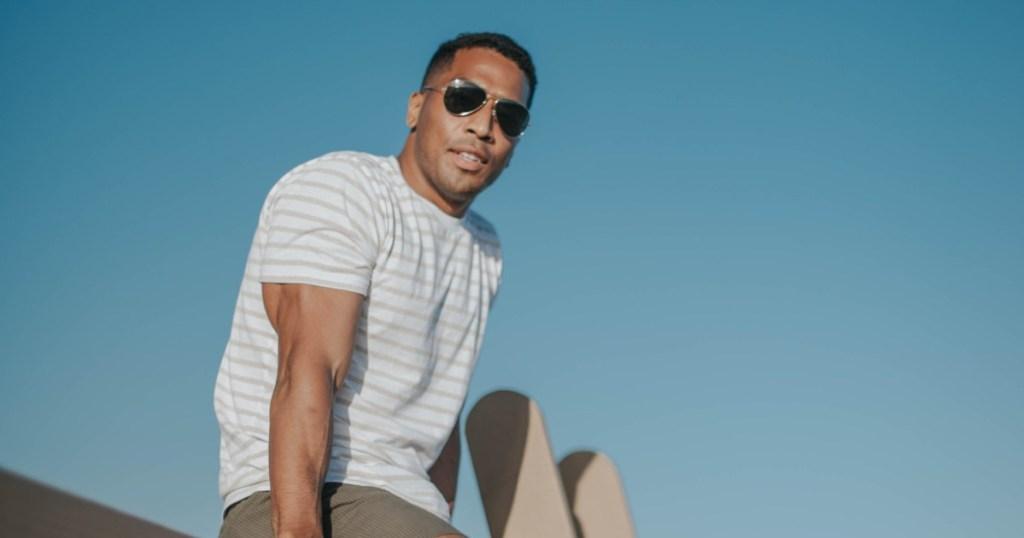man in sperry sunglasses