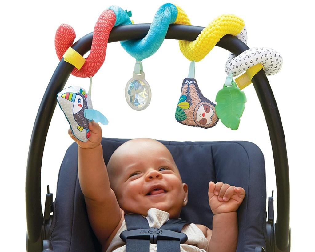 spiral wrap baby touy w/ baby