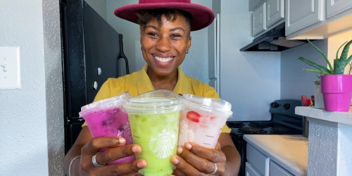 We're Trying Starbucks' Newest Refreshers Made With Fruit & Coconut Milk!