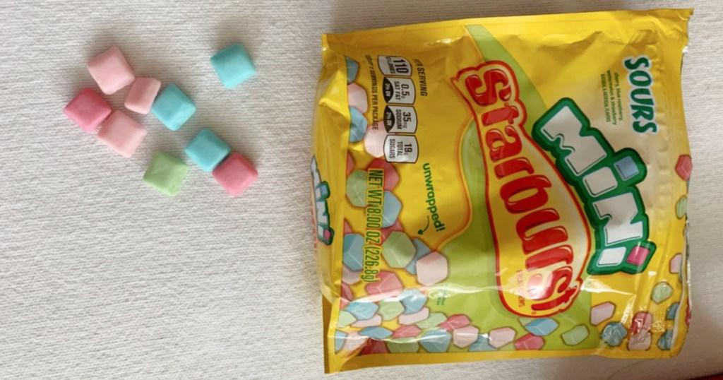 starbusrt mini bag with candies