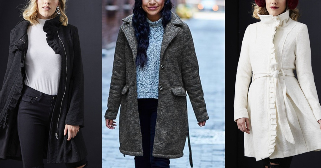 three women showing off new jackets