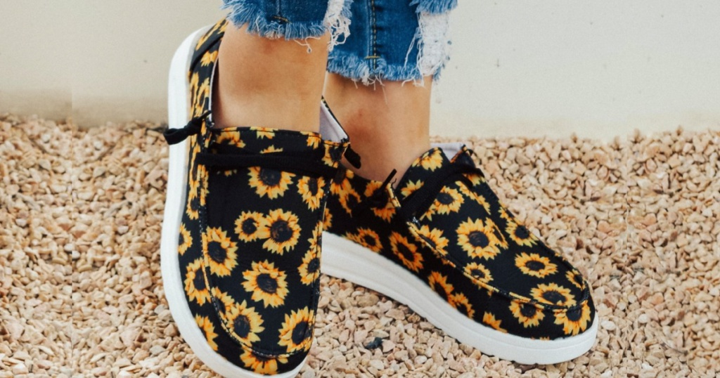 sunflower ROSY boat shoes