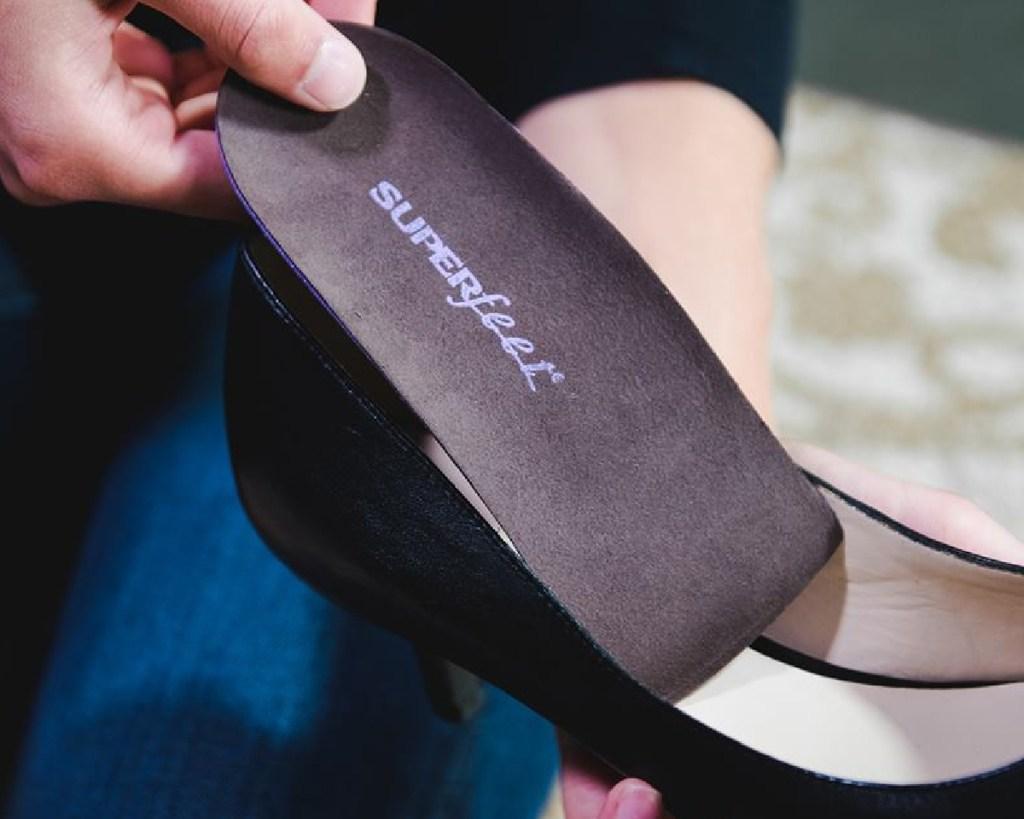 superfeet high heel in shoe