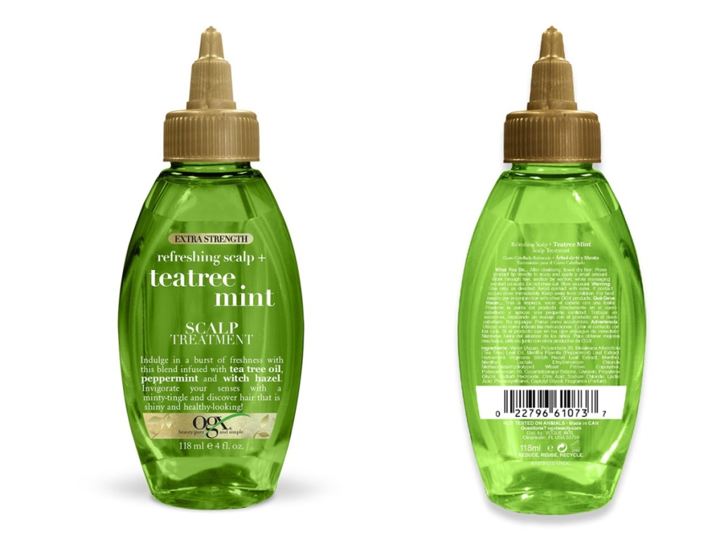 tea tree oil front and back