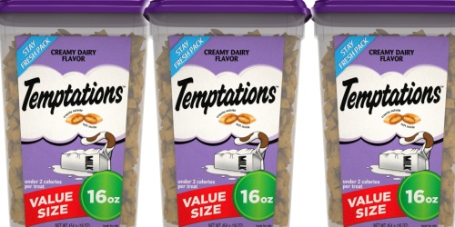 Temptations Cat Treats 16oz Canister Only $3.83 Shipped on Amazon