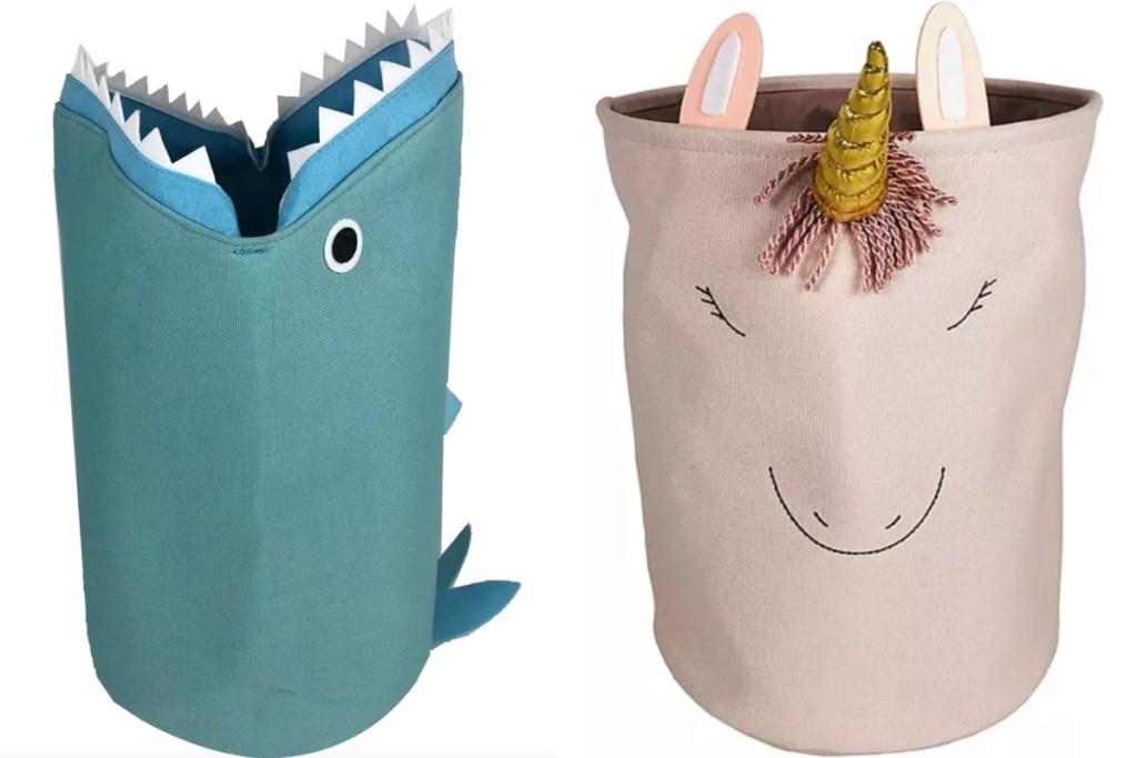 shark and unicorn the big one animal tote