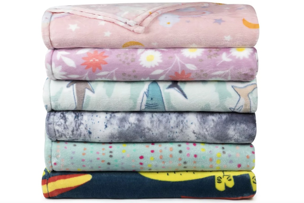 the big one plush blanket stacked