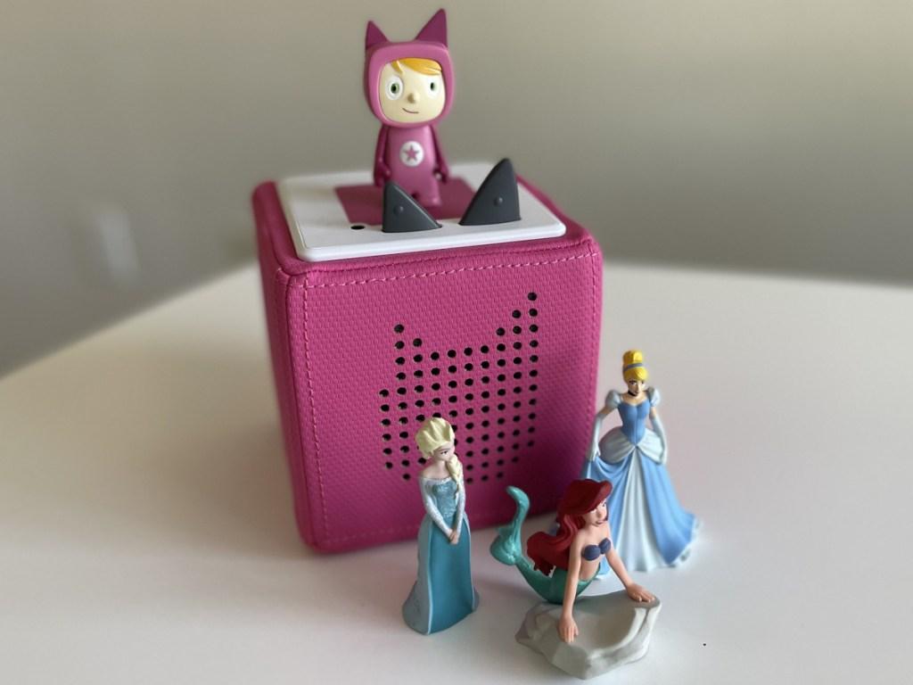 toniebox bundle w/ elsa little mermaid and cinderella