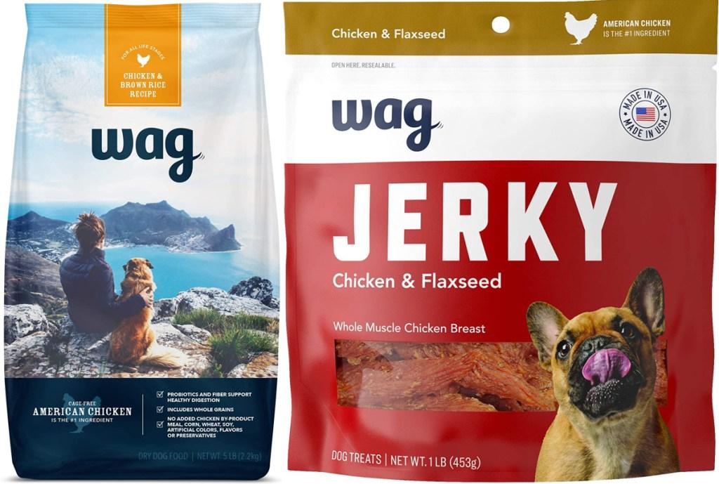 wag dog food and treats