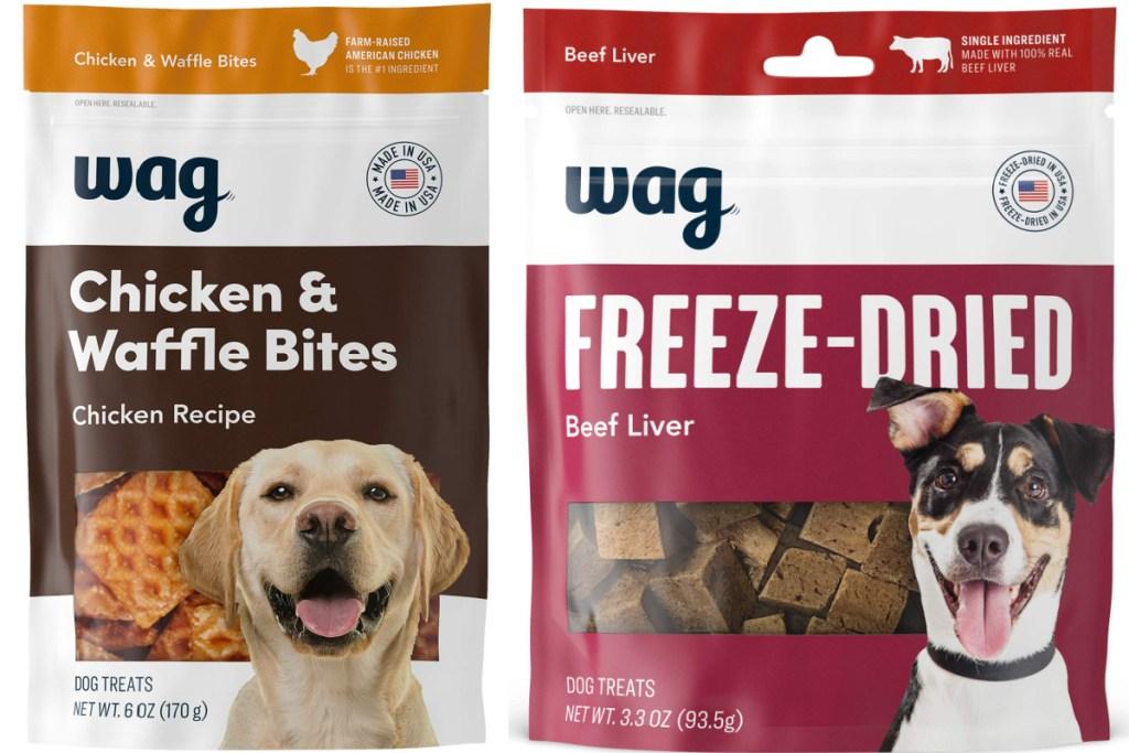 2 wag dog treats
